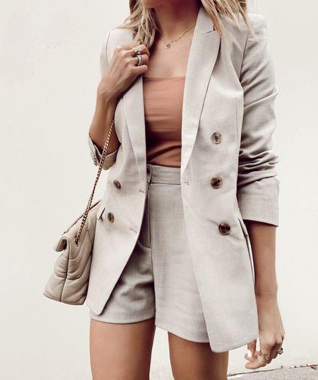 express sale, blazer, shorts, summer outfit   #LTKsalealert #LTKDay http://liketk.it/3hmDs #liketkit @liketoknow.it