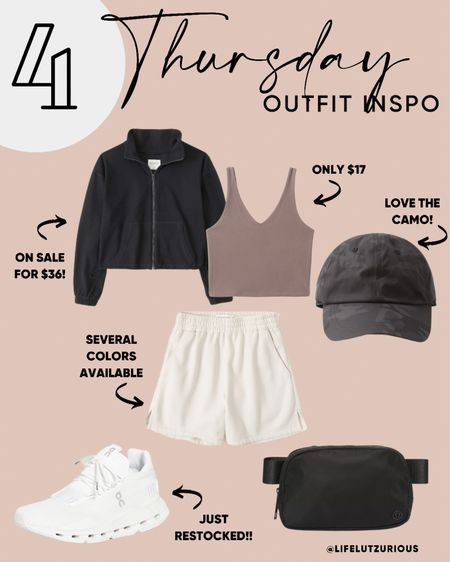 Thursday Outfit Inspo - Sporty outfit ideas, fall outfit ideas, fall outfit Inspo   #LTKstyletip #LTKSeasonal #LTKfit