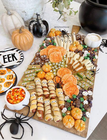 Halloween charcuterie board, party food, kitchen decor, Halloween decor   #LTKhome #LTKfamily #LTKSeasonal