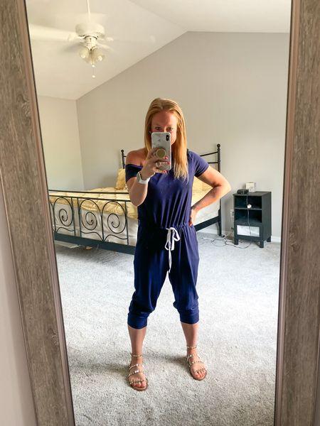 Casual Friday jumpsuit. Fits TTS (I'm wearing a small)   #LTKsalealert #LTKunder50 #LTKunder100