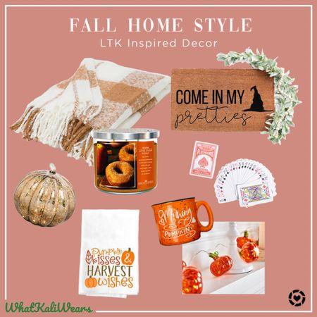 Cozy fall home style 🍂🎃  #LTKstyletip #LTKhome #LTKHoliday