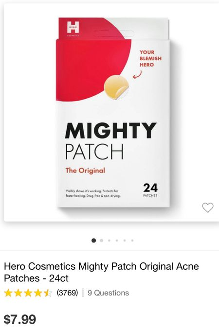 Best acne patch that sucks the gunk out overnight! #acne #mightypatch #target  #LTKbeauty #LTKunder50 #LTKfamily