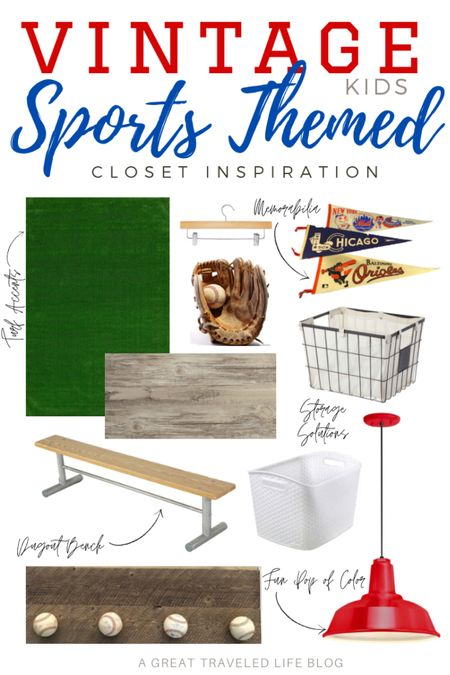 Vintage Sports Themed kids bedroom inspiration. I am mixing vintage sports themed items to create a sports themed kids bedroom. #LTKSpringSale #LTKkids #LTKhome @liketoknow.it.brasil @liketoknow.it.family @liketoknow.it.europe @liketoknow.it.home Shop your screenshot of this pic with the LIKEtoKNOW.it shopping app    http://liketk.it/3bEFE #liketkit @liketoknow.it