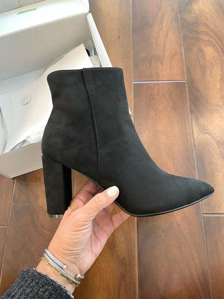 Black Boots. Booties. Holiday parties. Fall staples. Under $50  #LTKunder50 #LTKSeasonal #LTKshoecrush