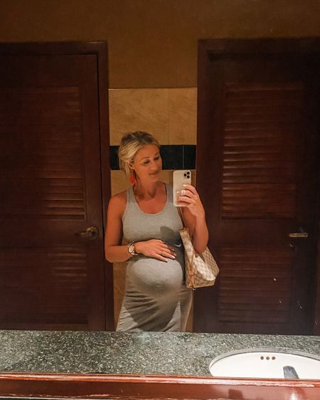 Last date night before baby calls for a dimly lit bathroom selfie 🤣 I'm impressed this #amazon non maternity dress has lasted through my entire pregnancy! I'm wearing a S and it's still comfortable. We had such a fun afternoon touring the home show, seeing some bridges of Madison county, and then going to a nice dinner!  http://liketk.it/3k3OQ #liketkit @liketoknow.it #LTKbump #LTKunder50 #LTKstyletip #dress #simpledress #louisvuitton #bump #bumpstyle #amazonfashion #momstyle