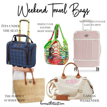 We've got totes, luggage and weekenders for all types of summer getaways. http://liketk.it/3gIMO @liketoknow.it #liketkit #LTKtravel #LTKstyletip #LTKitbag Download the LIKEtoKNOW.it app to shop this pic via screenshot