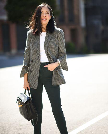 Check blazer for Fall 🙌🏼  #LTKworkwear #LTKstyletip #LTKSeasonal