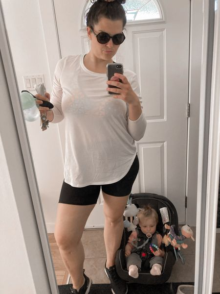 I'm livin' for these Joe Fresh biker shorts. They are perfect for girls who like me have thicc thighs that love to harmonize. Kno what I'm sayin?  #LTKcurves #LTKfit #LTKworkwear