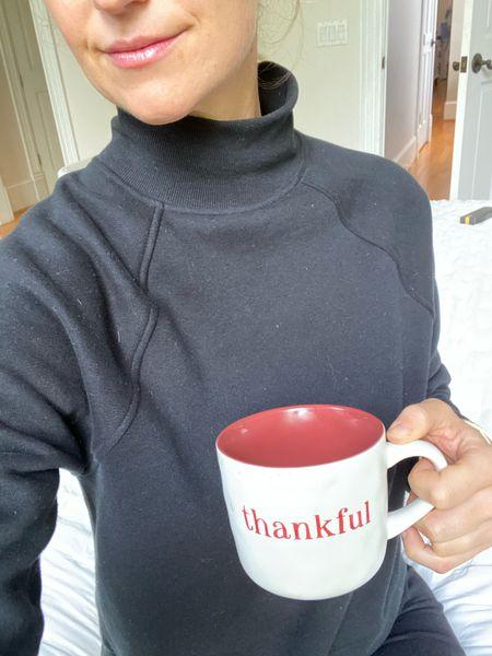 Thankful mug, thanksgiving, target finds, coffee, fall decor   #LTKSeasonal #LTKunder50