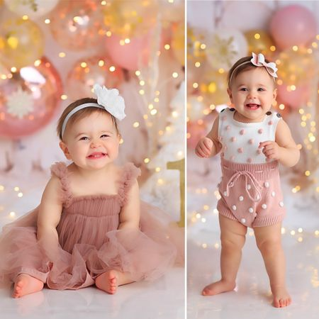 mira's one year photo outfits - both amazon!