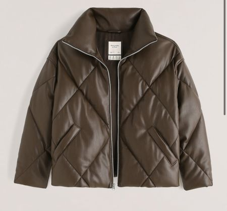 """Omg y'all how beautiful is this buttery soft vegan leather puffer coat?!? It is STUNNING!! And is currently on sale for just a few days!!! 25% off with code """"LTKAF2021"""" but move fast if you like it because sizes are selling out fast!!! And it also comes in a GORGEOUS caramel color & a black too!!!!   #LTKGiftGuide #LTKstyletip #LTKsalealert"""