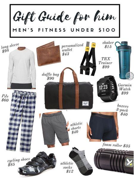 Gift guide for him under $100, men's fitness gift guide, men's gift guide, gifts for him, stocking stuffers, active men ideas http://liketk.it/33wjF #liketkit @liketoknow.it   #LTKunder100 #LTKgiftspo #LTKmens