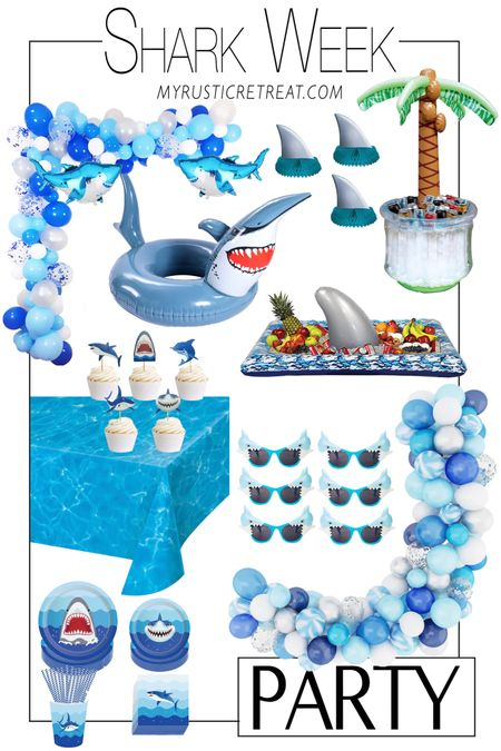 It's Shark Week y'all!! Here's a fun little spread I put together in case you're celebrating like we are! Or maybe just have an upcoming shark themed birthday party for the baby shark in your life!! http://liketk.it/3jSDL #liketkit @liketoknow.it #LTKhome #LTKkids #LTKfamily @liketoknow.it.home @liketoknow.it.family Shop your screenshot of this pic with the LIKEtoKNOW.it shopping app