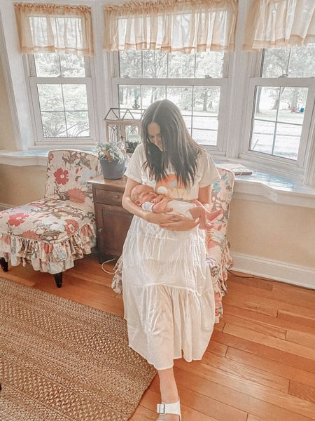 6 days (this was taken yesterday at 5 days old) with the the most amazing baby boy I could ever ask for. Motherhood is a dream. Sure I don't sleep as much but I would stay up all hours just to look at that squishy face. I'm on cloud 9🤍☁️ | @liketoknow.it #liketkit #LTKunder100 #LTKunder50 #LTKfamily http://liketk.it/2QaKs