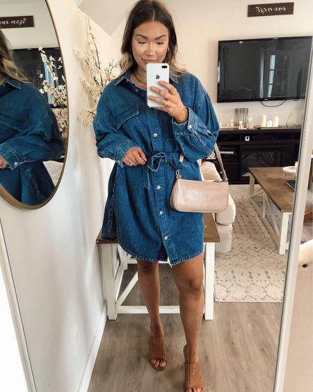 Denim dress  Jean dress  Rug  Home decor   http://liketk.it/3je0T #liketkit @liketoknow.it #LTKstyletip #LTKhome #LTKshoecrush