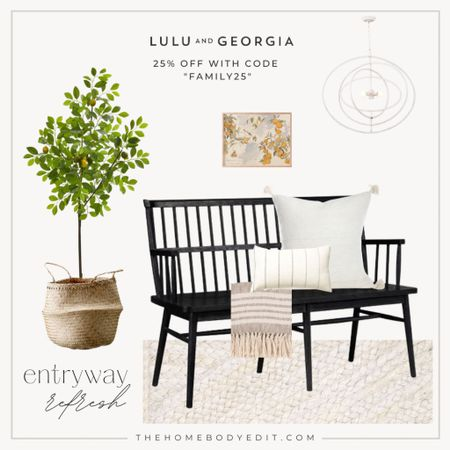 Entryway Refresh! Revive your entry way with this breath of fresh air, bright and happy lulu and Georgia decor, all of which is 25% off! 🌻  #LTKhome #LTKSeasonal #LTKSpringSale