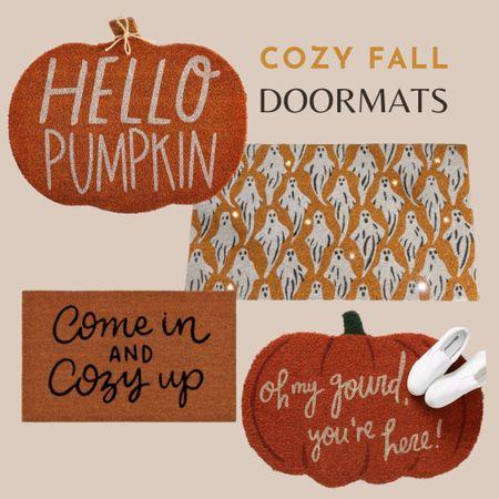 Fall doormats, welcome mat, pumpkin doormat, ghost door mat, light up doormat, Halloween doormat   #LTKunder50 #LTKhome #LTKHoliday