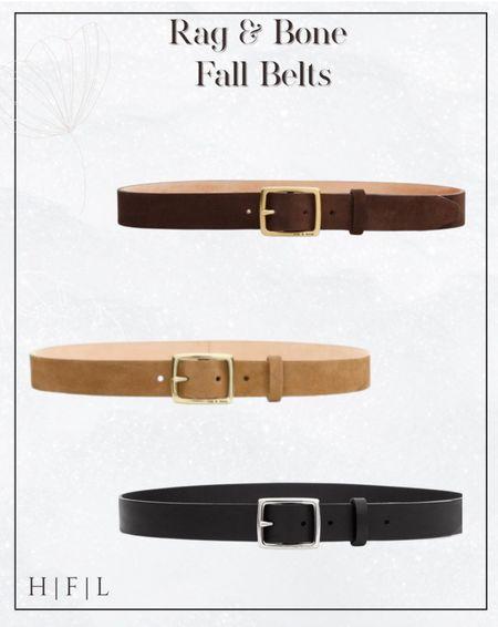 Rag & Bone belts for fall, neutral belts. Square buckle   #LTKGiftGuide #LTKstyletip #LTKworkwear