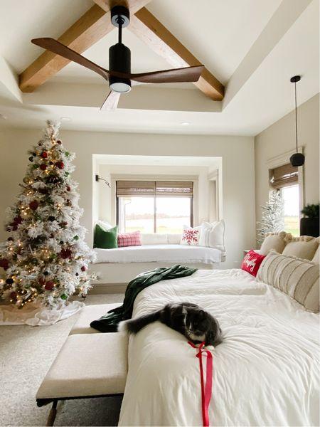 Flocked Christmas tree, Christmas decor, Christmas throw pillow, Christmas ornaments   #LTKhome #LTKSeasonal #LTKHoliday