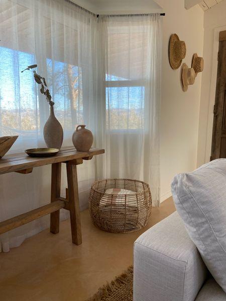Boho home decor, cane furniture, home decor, living room decor, media console   #LTKSeasonal #LTKsalealert #LTKhome