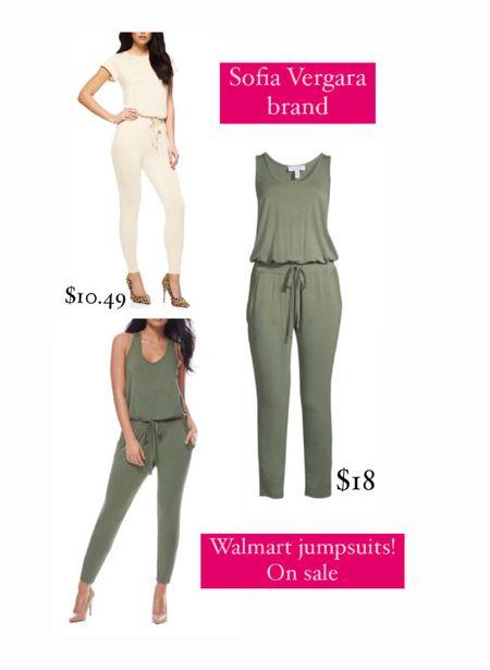 Sofia Vergara brand jumpsuits! // both on sale and so pretty !! Perfect colors for Fall  Walmart fashion // walmart finds // walmart clothing // walmart jumpsuit   #LTKsalealert #LTKstyletip #LTKunder50