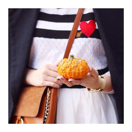 Parisian vibes for yesterday's #ootd. Shop the look via @liketoknow.it www.liketk.it/1NLa8 ?? I picked up this ugly but cute pumpkin at Jesmond Market, getting ready for Halloween! Love it ?? #autumn #asos #asseenonme #chloè #halloween #pumpkin #shoreprojects #parisian #fbloggers