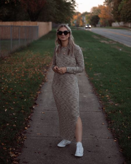 Maxi dress, high top converse   #LTKSeasonal