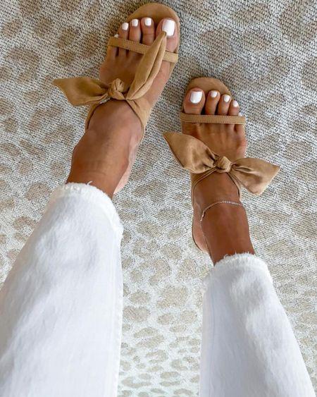 Bow heels and jeans on sale! #liketkit @liketoknow.it http://liketk.it/3hpaE #LTKsalealert #LTKshoecrush #LTKDay