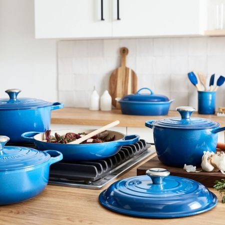 A round up of my favorite Le Creuset Marseille pieces that have made there way onto my wedding registry, aren't they the prettiest shade of blue!      #LTKSeasonal #LTKeurope #LTKGiftGuide