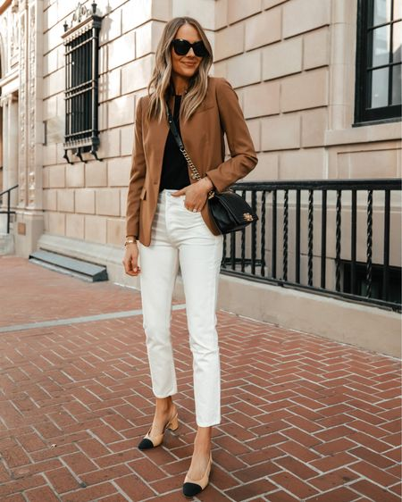 My favorite camel blazer. So classic and perfect for work to weekend #businesscasual #blazer #workwear #falloutfits   #LTKstyletip #LTKworkwear #LTKunder100