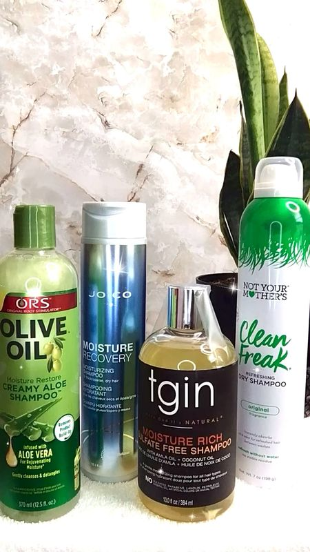 All my favorite shampoos. These are the four shampoos in my relaxed hair regimen. #healthyhair #relaxedhair  #LTKbeauty