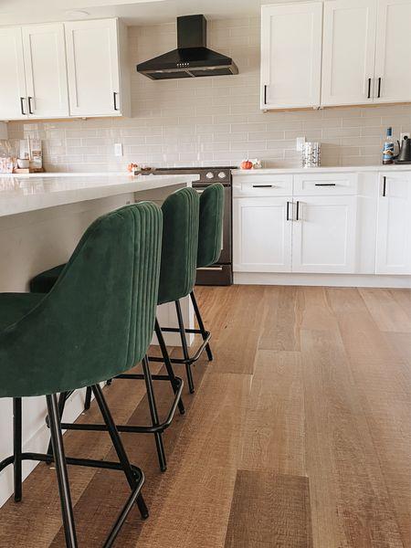 Green velvet chairs with black base 🖤  #LTKhome #LTKGifts #LTKunder50
