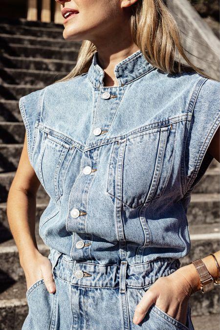 Closer look at this denim jumpsuit!   #LTKaustralia #LTKstyletip #LTKeurope