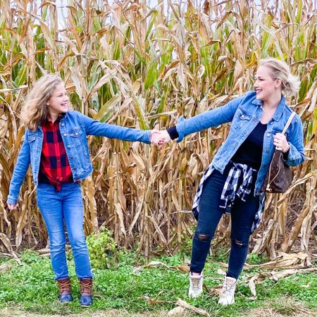 Twinning with the oldest girl today! We went to the pumpkin patch today. It was cool and muddy but still a great time! So happy we were able to go! @liketoknow.it #liketkit http://liketk.it/2ZwIk
