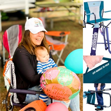 Outdoor rocker rocking camp camping chairs they fold up, have a cup holder and they are comfortable to kick back and relax in. ☺️ #liketkit #LTKtravel #LTKfamily #LTKunder100 @liketoknow.it http://liketk.it/2QFIT