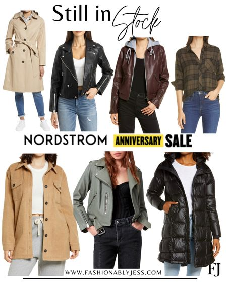 Jackets still in stock 👌🏼 #nsale Winter jackets Shackets Moto jackets  #LTKstyletip #LTKsalealert #LTKunder100