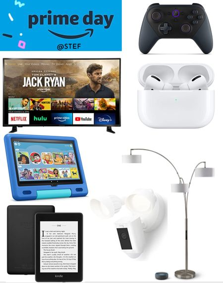 Amazon Prime Day Home Finds! Get your smart home gear!    Kindle fire waterproof fire kids smart lamp echo dot Apple AirPods ring floodlight home security home safety entertainment tv smart TV television Amazon remote gaming remote   #LTKfamily #LTKhome #LTKsalealert