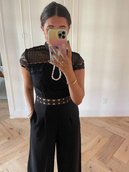 Size: medium Pretty black jumpsuit!   #LTKstyletip #LTKSeasonal #LTKfit