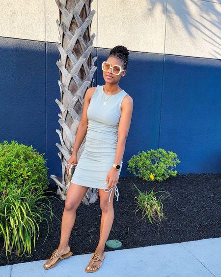 Vacation ready, wearing my current favorite sunnies. Love this ruched dress. #dress#rucheddress#sunglasses #sandals#oversizedsunglasses http://liketk.it/3j6e2 #toryburch #LTKsalealert #LTKstyletip #LTKunder50 #LTKunder100 #LTKshoecrush #LTKworkwear #LTKtravel #LTKfit #LTKitbag #LTKbeauty @liketoknow.it #liketkit