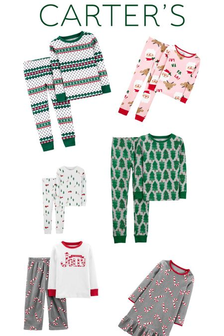 Family Holiday Jammies From Carters  #LTKfamily #LTKkids #LTKHoliday