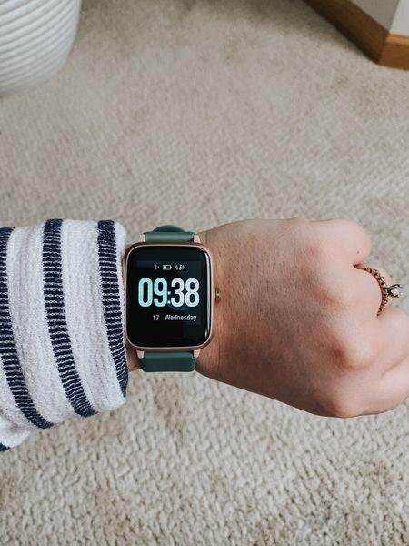 Smart Watch  http://liketk.it/3aH7v @liketoknow.it #liketkit   #LTKsalealert #LTKfit #LTKunder50  Smart watch, Apple Watch, fitness, gym, accessories, Amazon, Amazon finds, affordable
