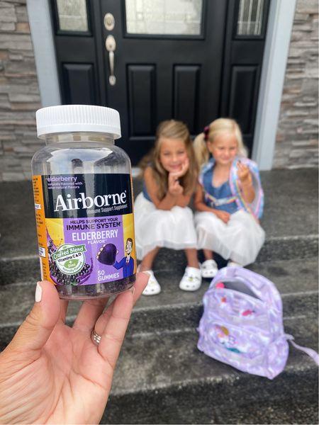 Back to school items Elderberry Kids vitamins Adult gummy vitamins Airborne Pottery barn kids unicorn backpack size large Kids white croc shoes  #LTKfamily #LTKshoecrush #LTKkids
