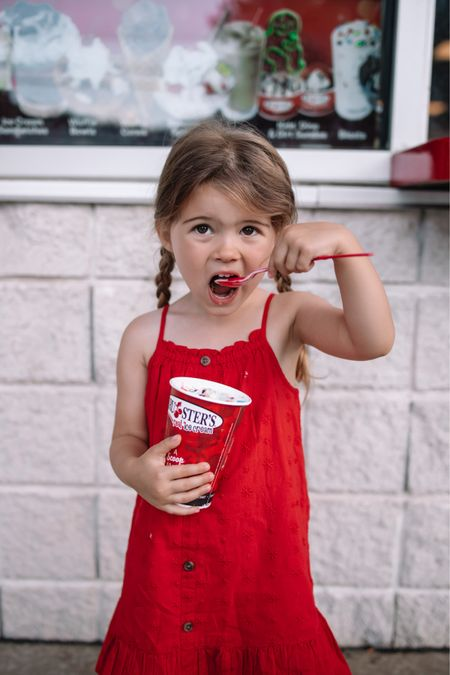 The sweetest toddler dress for the 4th! Kids Fourth of July outfit, toddler dress, kids summer outfit http://liketk.it/3iJE6 #liketkit #LTKkids #LTKfamily @liketoknow.it
