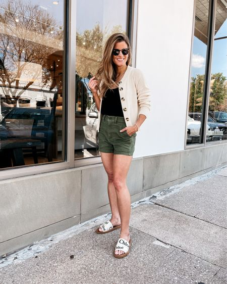Cute and Casual! Wearing Madewell shorts (size 24 run large), and Madewell cardigan sweater (size xs) http://liketk.it/3hKR6 #liketkit @liketoknow.it