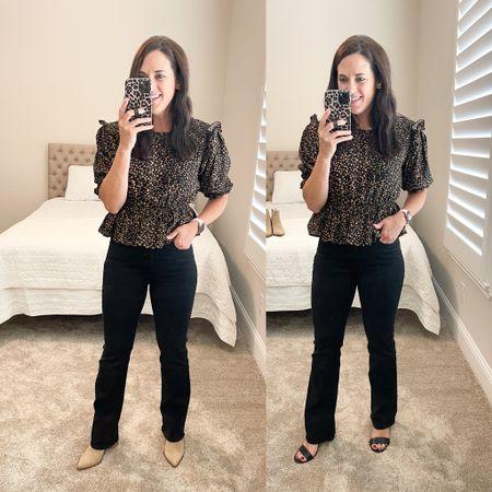 Fall outfit // boot cut denim! True to size   #LTKSeasonal #LTKstyletip #LTKunder50