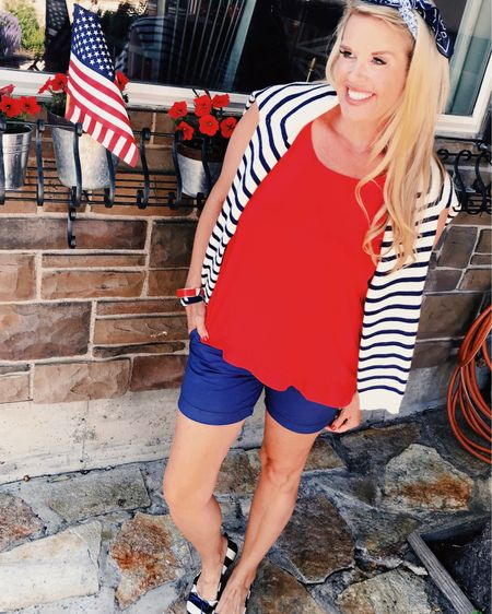 Red and white ♥️🇺🇸💙 4th of July  4th of July festive ♥️🇺🇸   You can instantly shop all my looks by following me on the @liketoknowit shopping app. Download the app to shop this pic via screenshot 🌸 link in bio👆🏻👆🏻👆🏻 http://liketk.it/2QZnF http://liketk.it/2QZo7 http://liketk.it/2QZoq http://liketk.it/2QZoL #liketkit @liketoknow.it  #ltkunder50 #ltkredwhiteblue #ltkstyle #outfitinapo