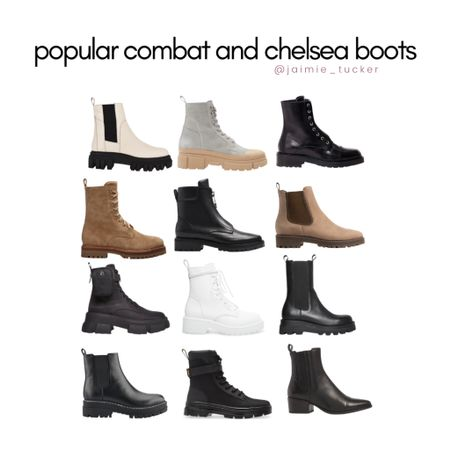 Combat and Chelsea boots for colder seasons. Who doesn't love a good quality pair of boots?  | #combatboots #chelseaboots #falloutfits #fallfootwear #bestsellers #stevemadden #nordstrompicks #JaimieTucker  #LTKSeasonal #LTKshoecrush #LTKstyletip