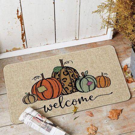 Artoid Mode Pumpkin Welcome Decorative Doormat, amazon finds, amazon home, fall decor, fall home, fall home decor     #LTKSeasonal #LTKhome #LTKsalealert