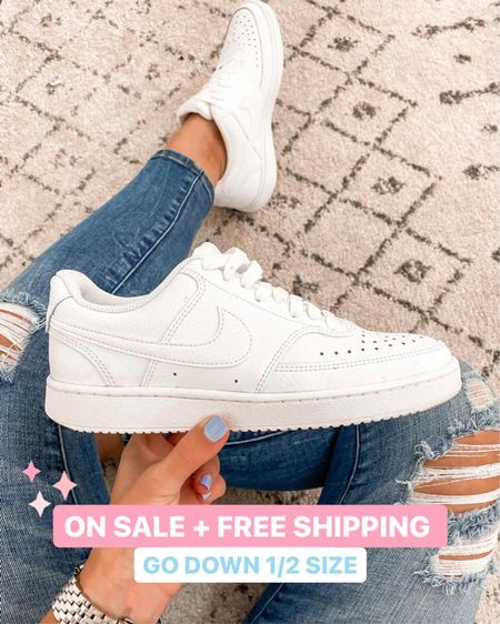 Nsale white Nike Air Force one dupes  Go down 1/2 size   #Nordstrom #nsale #sneakers #laurabeverlin    #LTKsalealert #LTKunder50 #LTKshoecrush