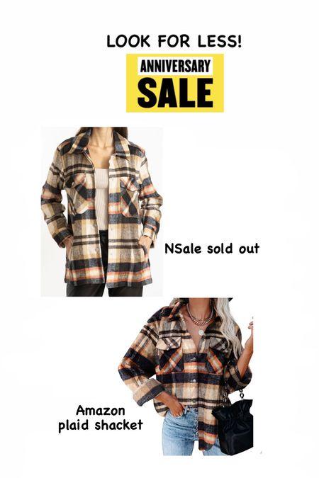 Nordstrom anniversary sale look Plaid shacket Fall jacket Amazon find    #LTKunder50 #LTKsalealert #LTKstyletip
